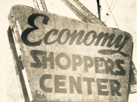 Economy Shoppers Center sign