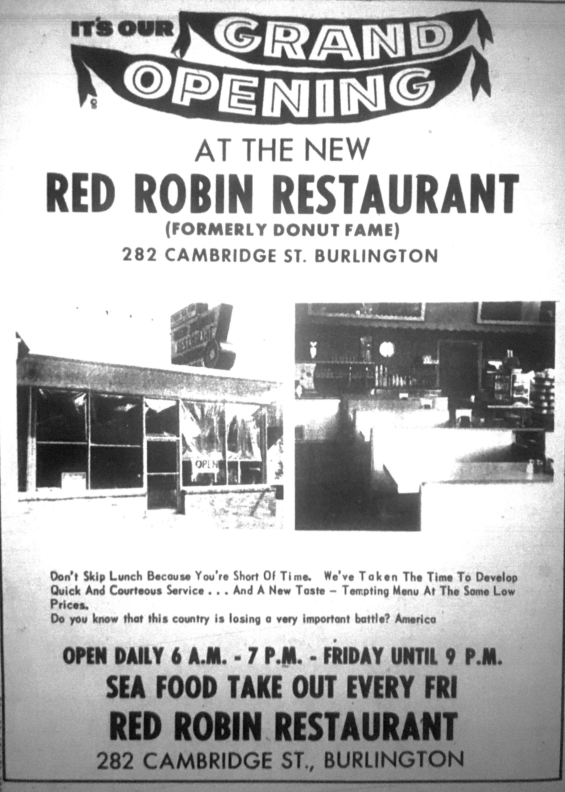 Grand opening Red Robin, Burlington MA