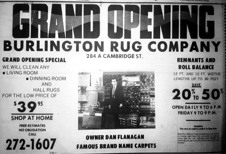 Burlington Rug Company grand opening