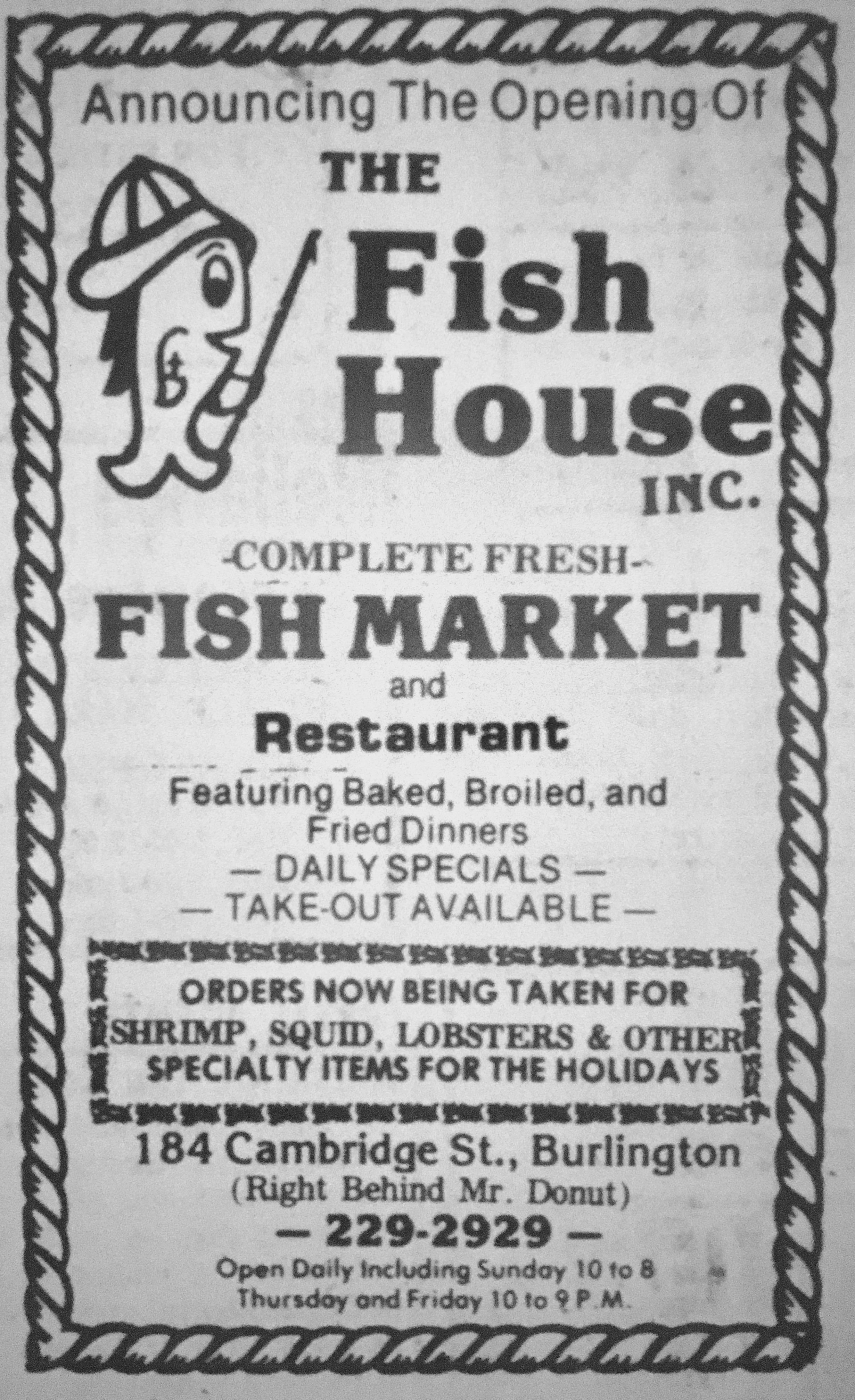 Fish House Burlington MA