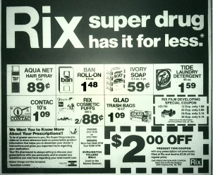 Rix Super Drug, Burlington MA