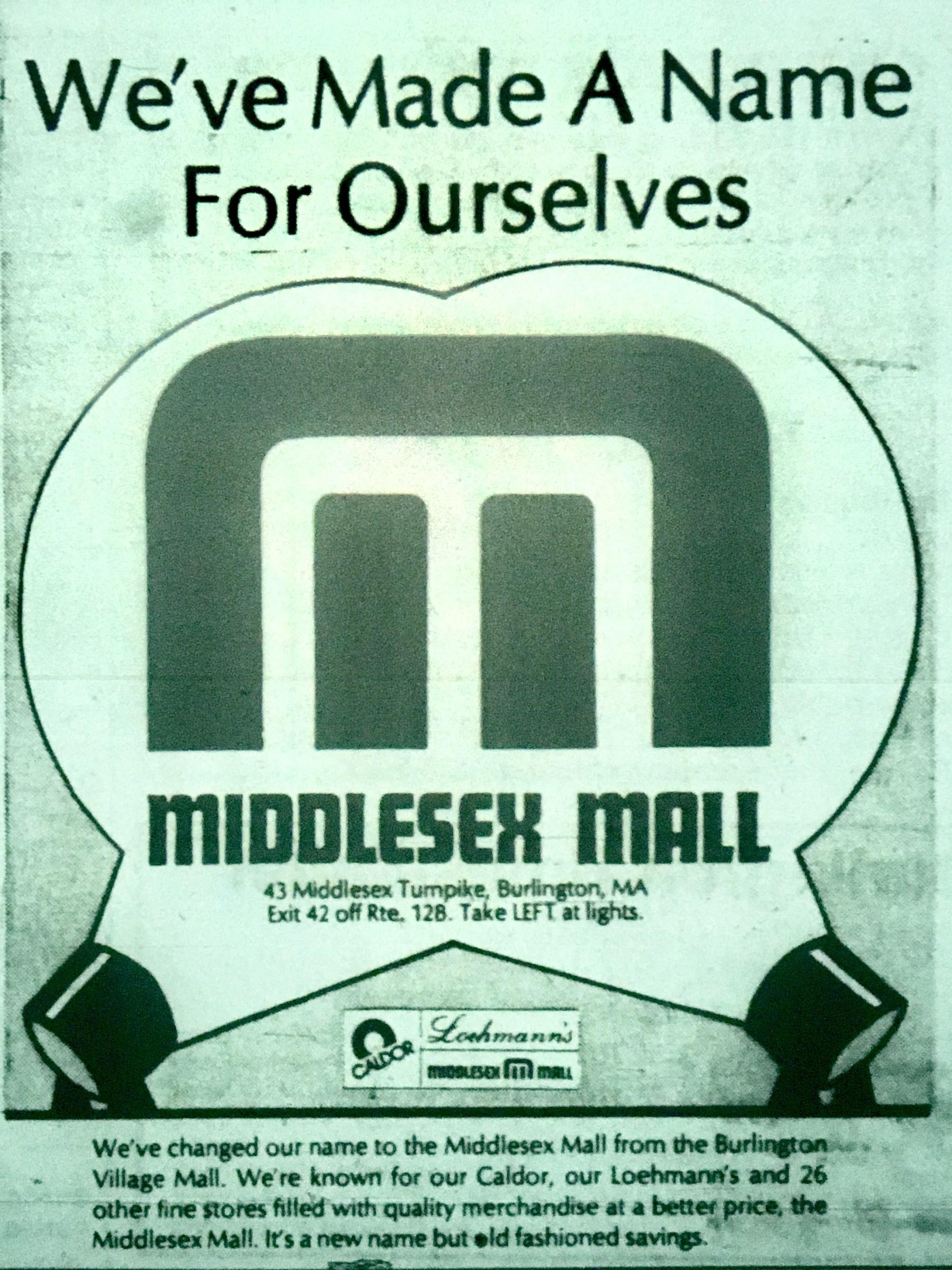 Middlesex Mall Burlington MA