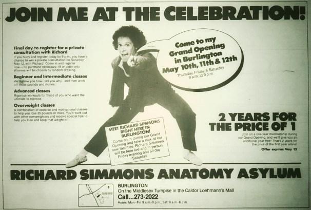 Richard Simmons Anatomy Asylum, Burlington MA
