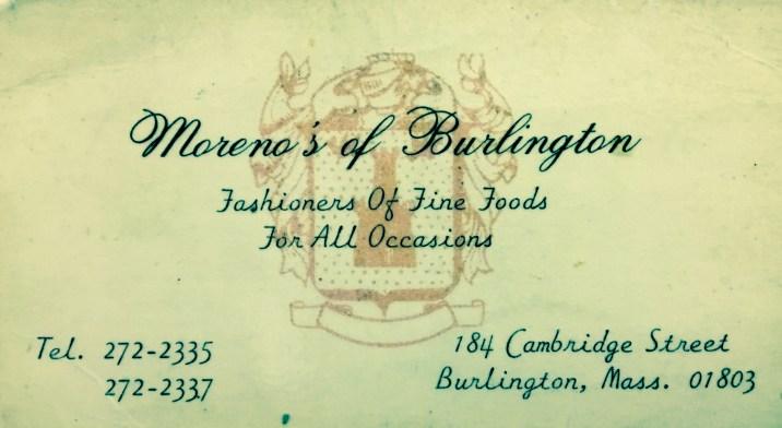 Moreno's business card