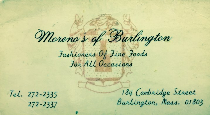 Moreno's business card