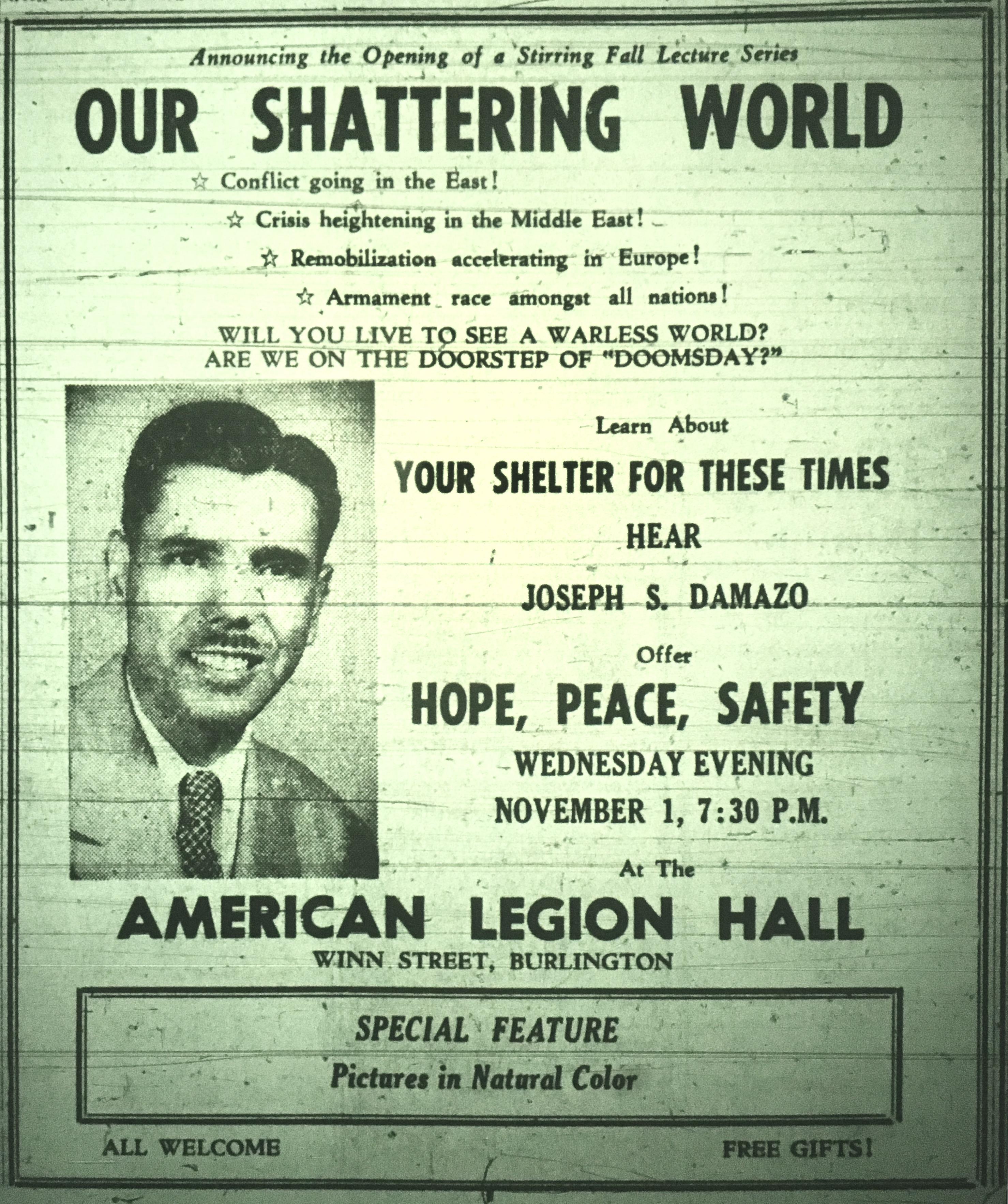 American Legion speaker, Burlington MA