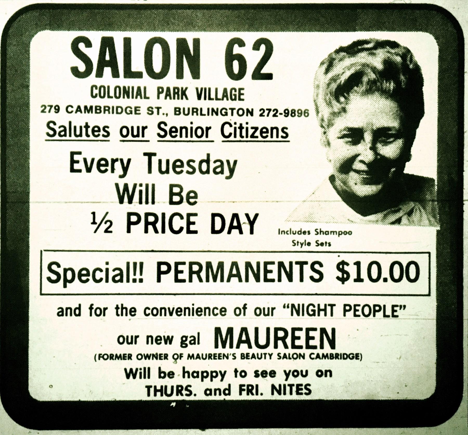 Salon 62, Burlington MA