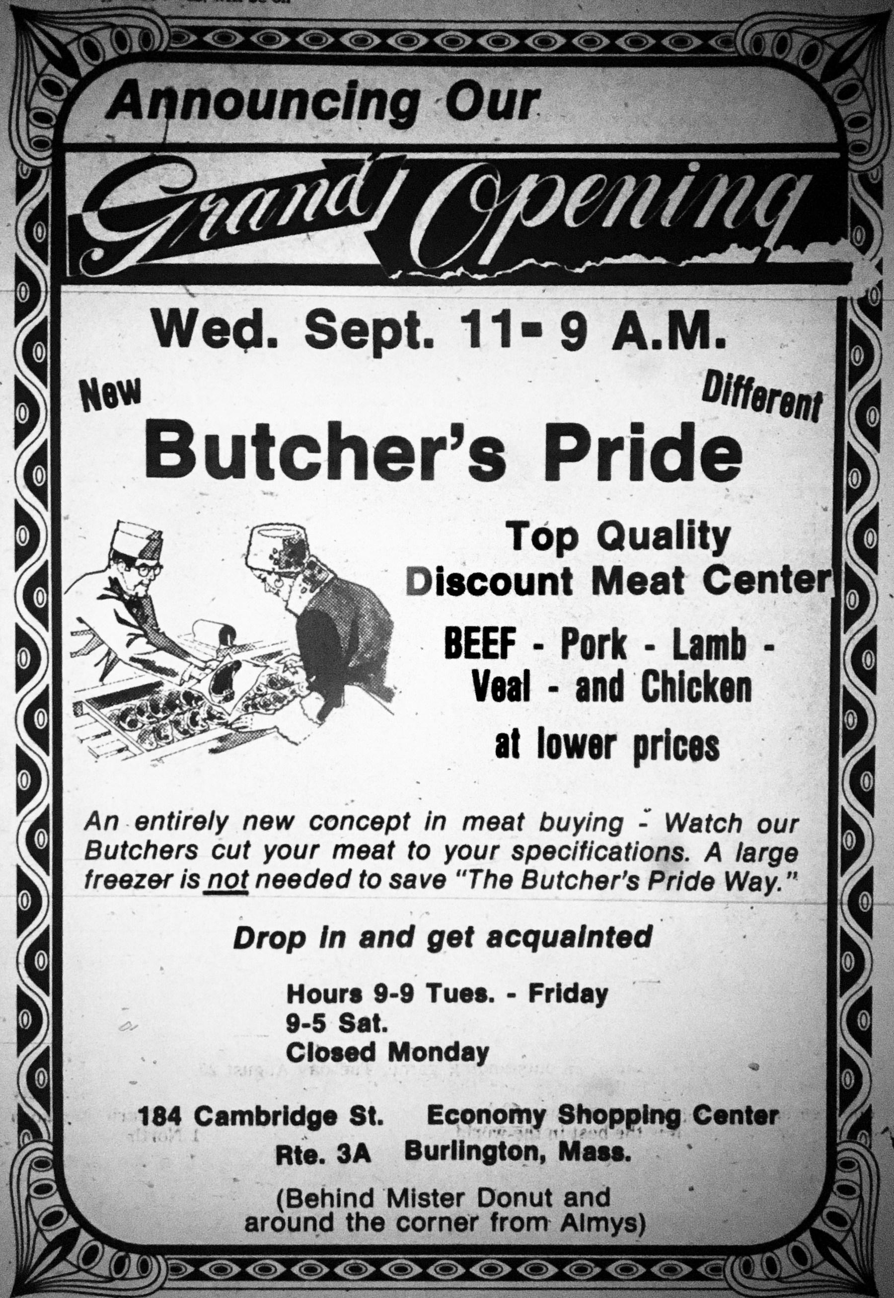 Butcher's Pride Burlington MA