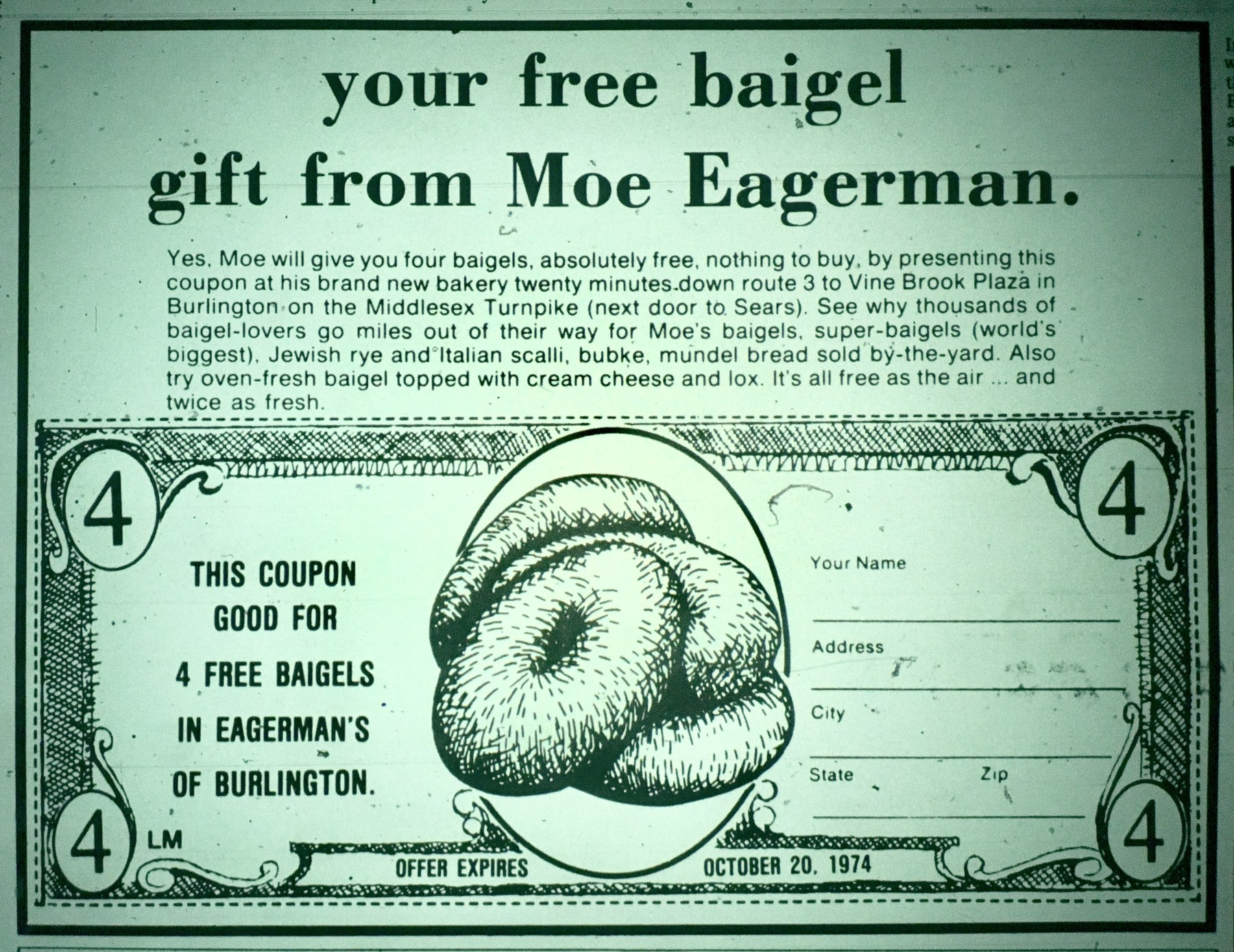 Moe Eagerman's baigels