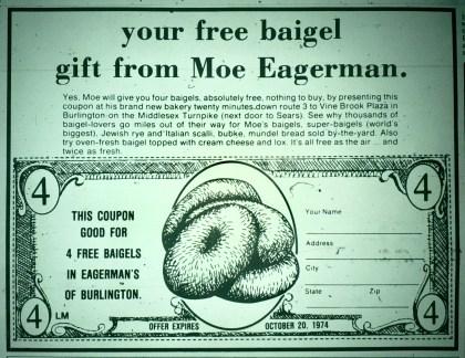 Moe Eagerman's baigels