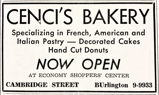 Cenci's Bakery grand opening Burlington MA
