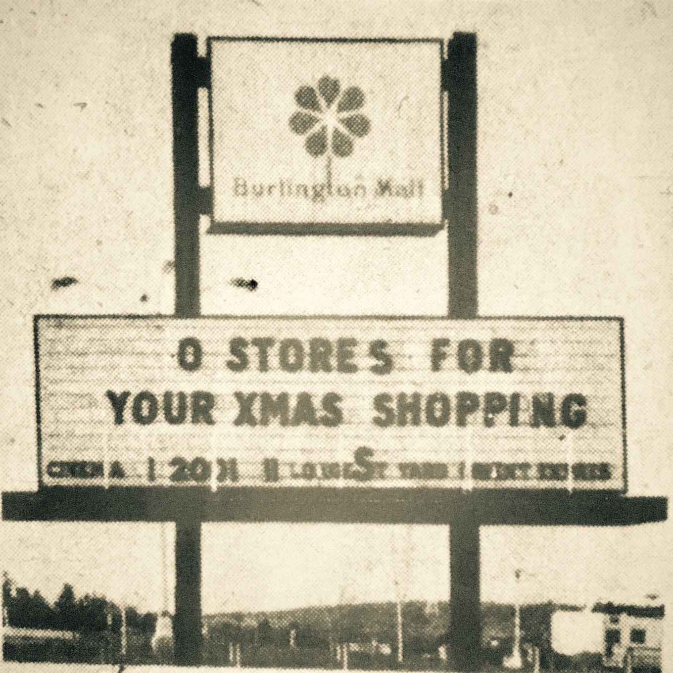 Burlington Mall sign