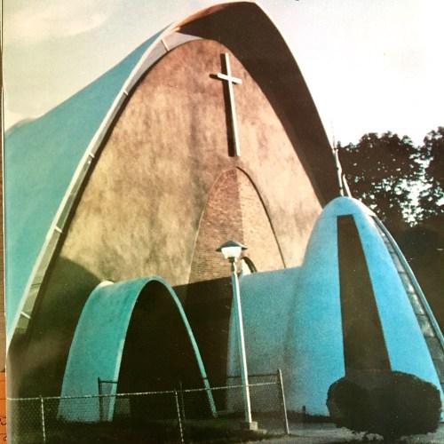 St. Malachy Parish, Burlington MA, under construction in the early 1960s.