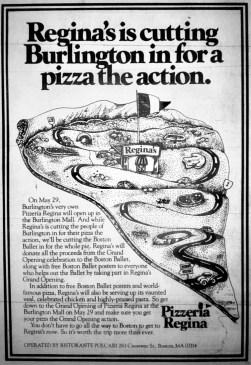 Pizzeria Regina, Burlington MA