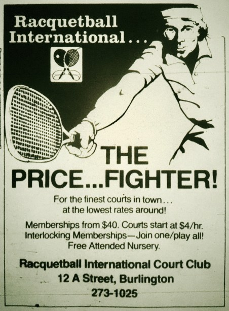 Racquetball International, Burlington MA