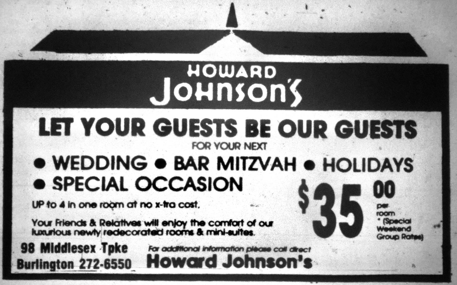 Howard Johnson's, Burlington MA