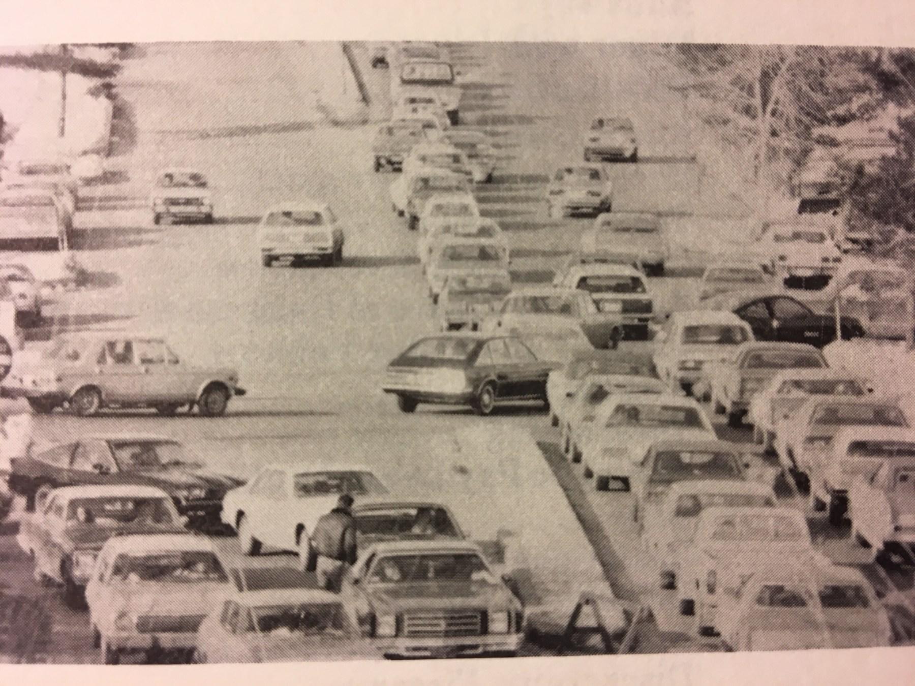 Burlington mall Tpke exit, early 70s
