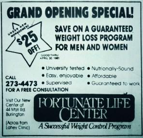 Fortunate Life Center, Burlington MA
