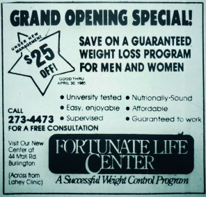 Fortunate Life Center, Burlington MA