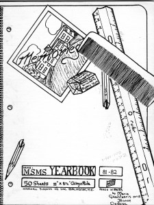 Marshall Simonds Middle School Burlington MA yearbook 1981-1982