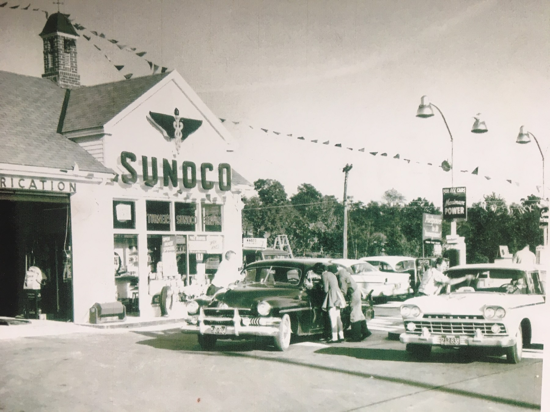 Turner's Sunoco late 1950s, Burlington MA