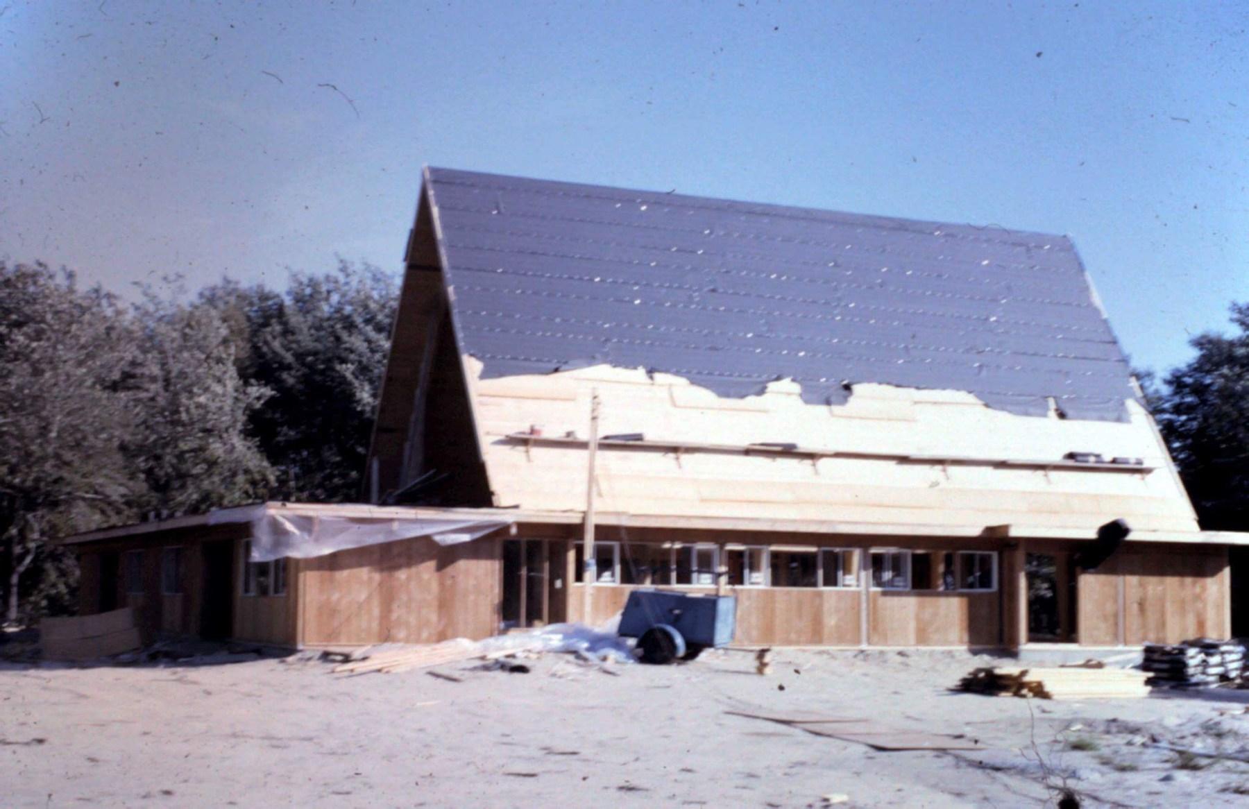 Presbyterian Church under construction, Burlington MA
