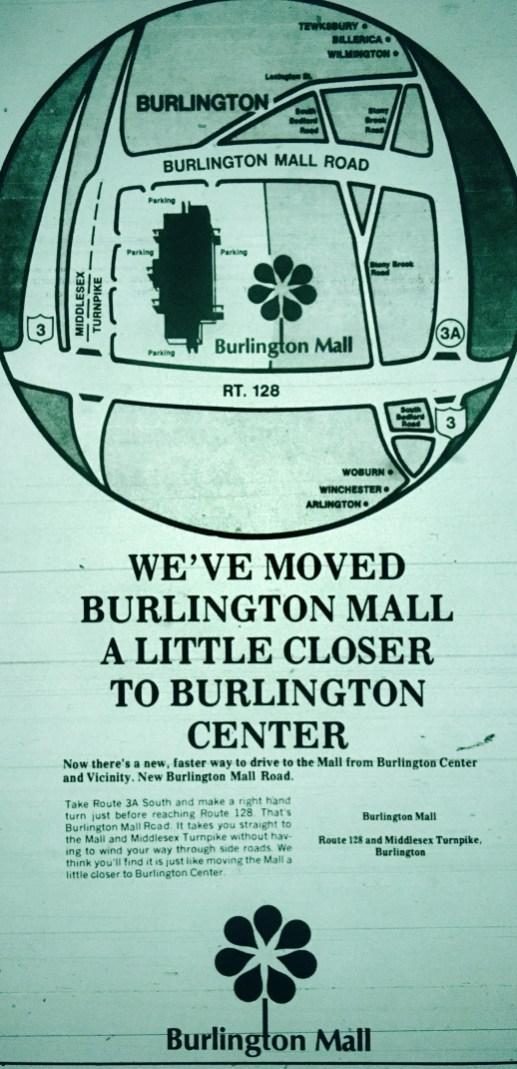 Mall Road ad, Burlington MA