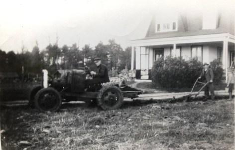 Olson house and tractor, 112 Wilmington Road, Burlington, MA