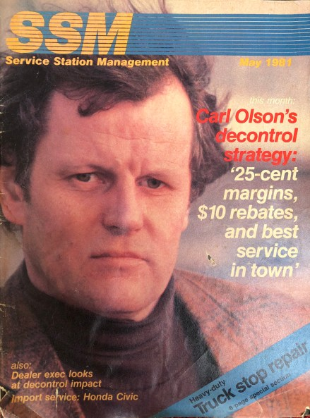 Carl Olson, magazine cover