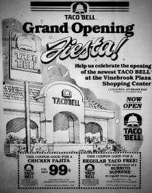Taco Bell Burlington grand opening