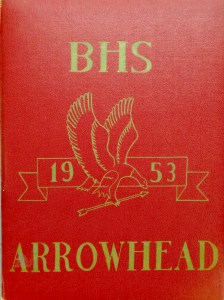 Burlington High School yearbook cover 1953