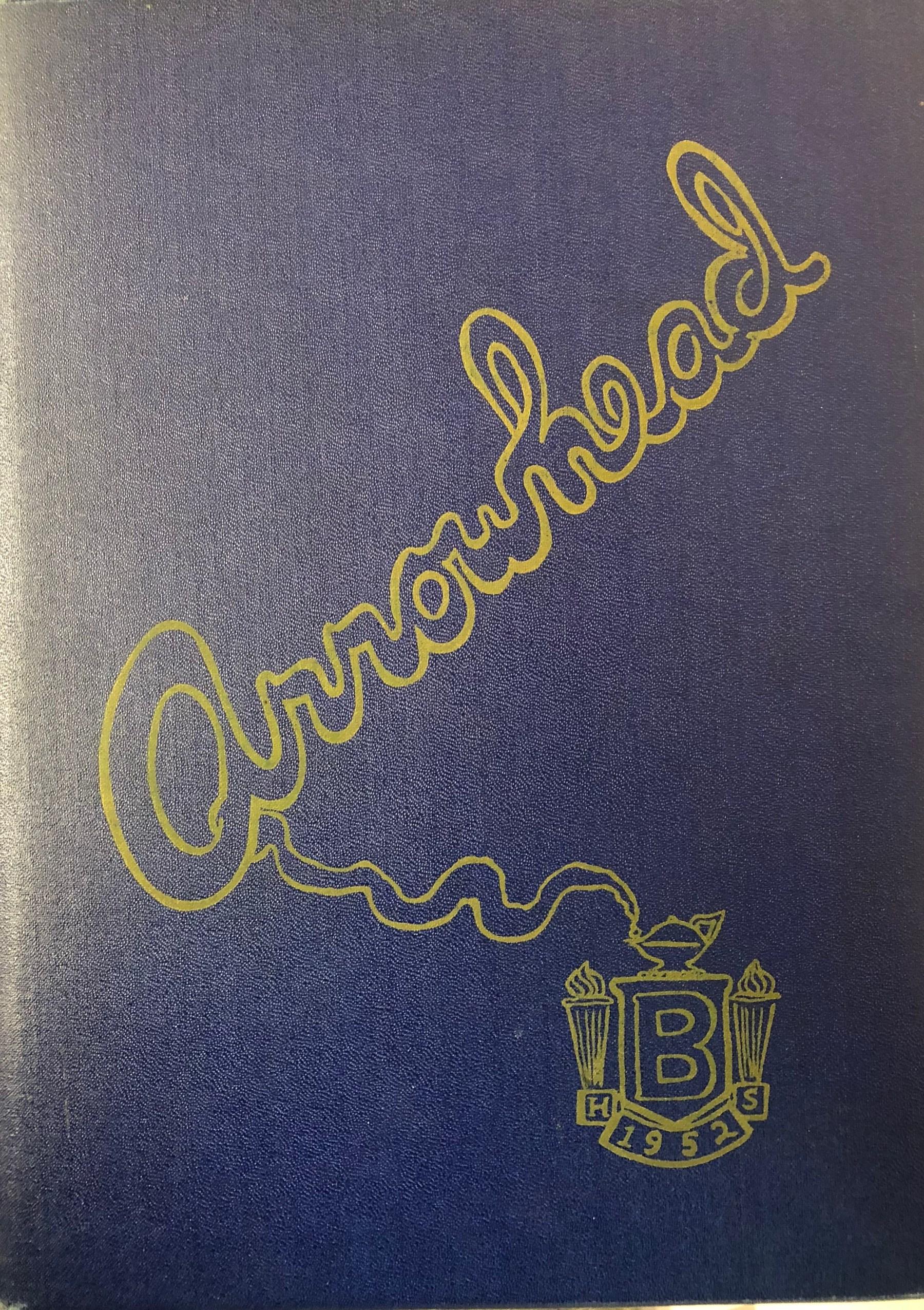 Burlington High School yearbook cover 1952