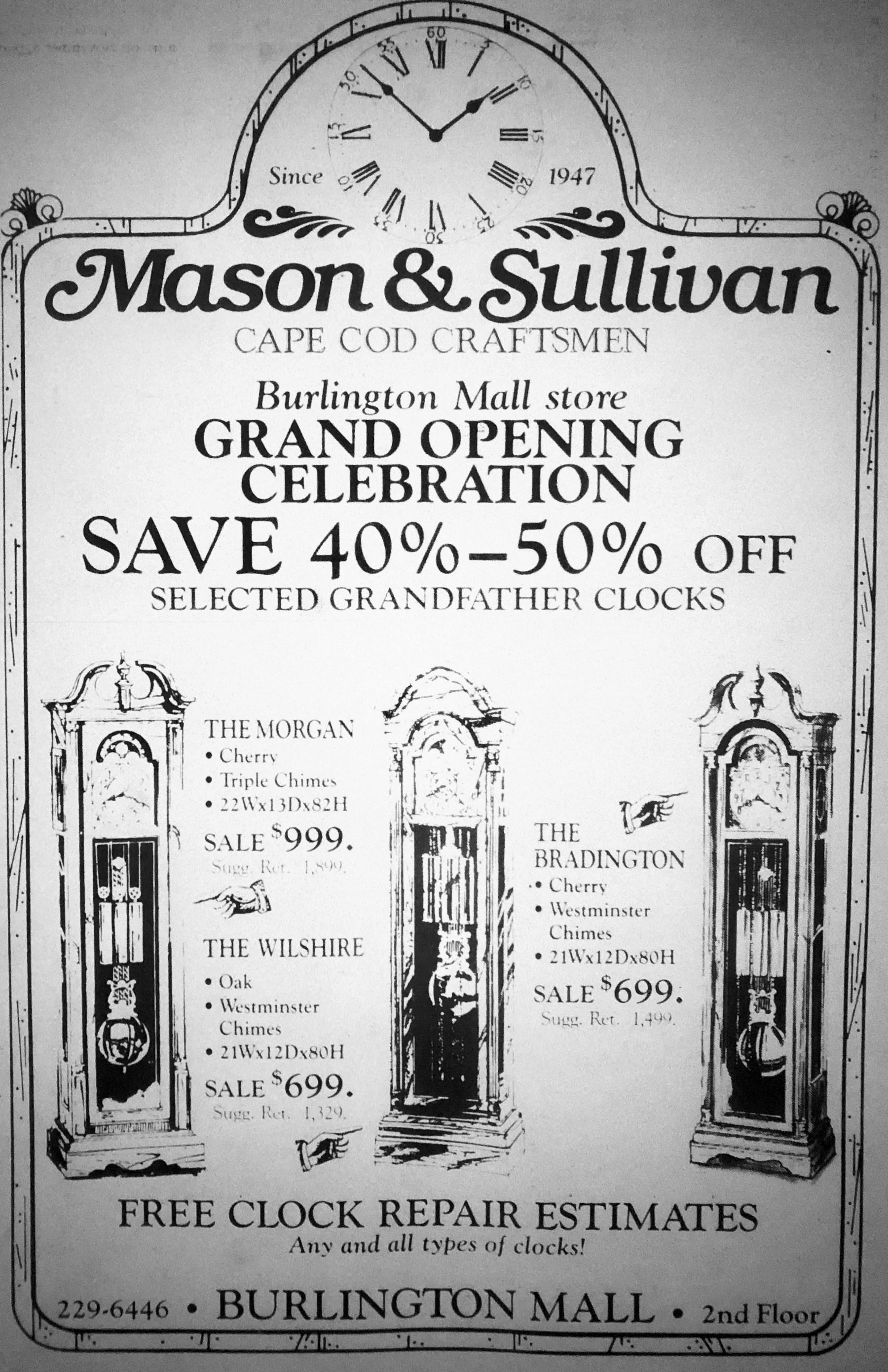 Mason & Sullivan, Burlington Mall