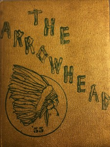 Burlington High School yearbook cover 1955