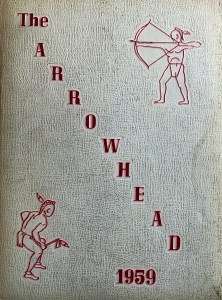 Burlington High School yearbook cover 1959
