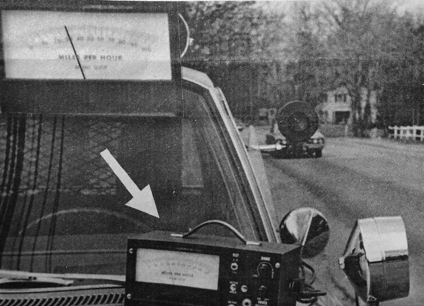 Burlington Police radar closeup