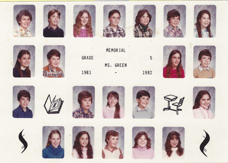 Ms. Green 1981 Memorial School, Burlington MA