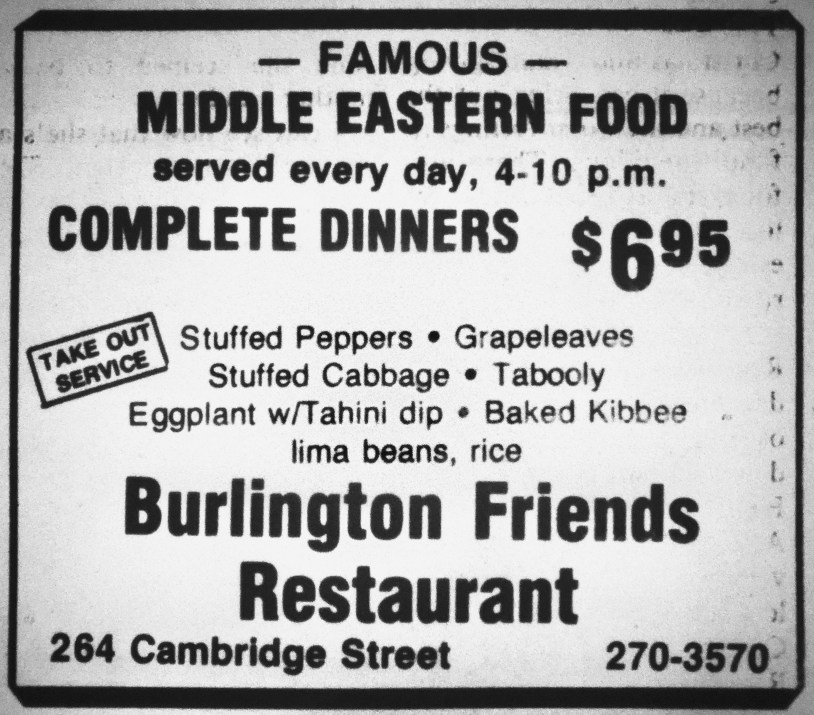 Burlington Friends Restaurant