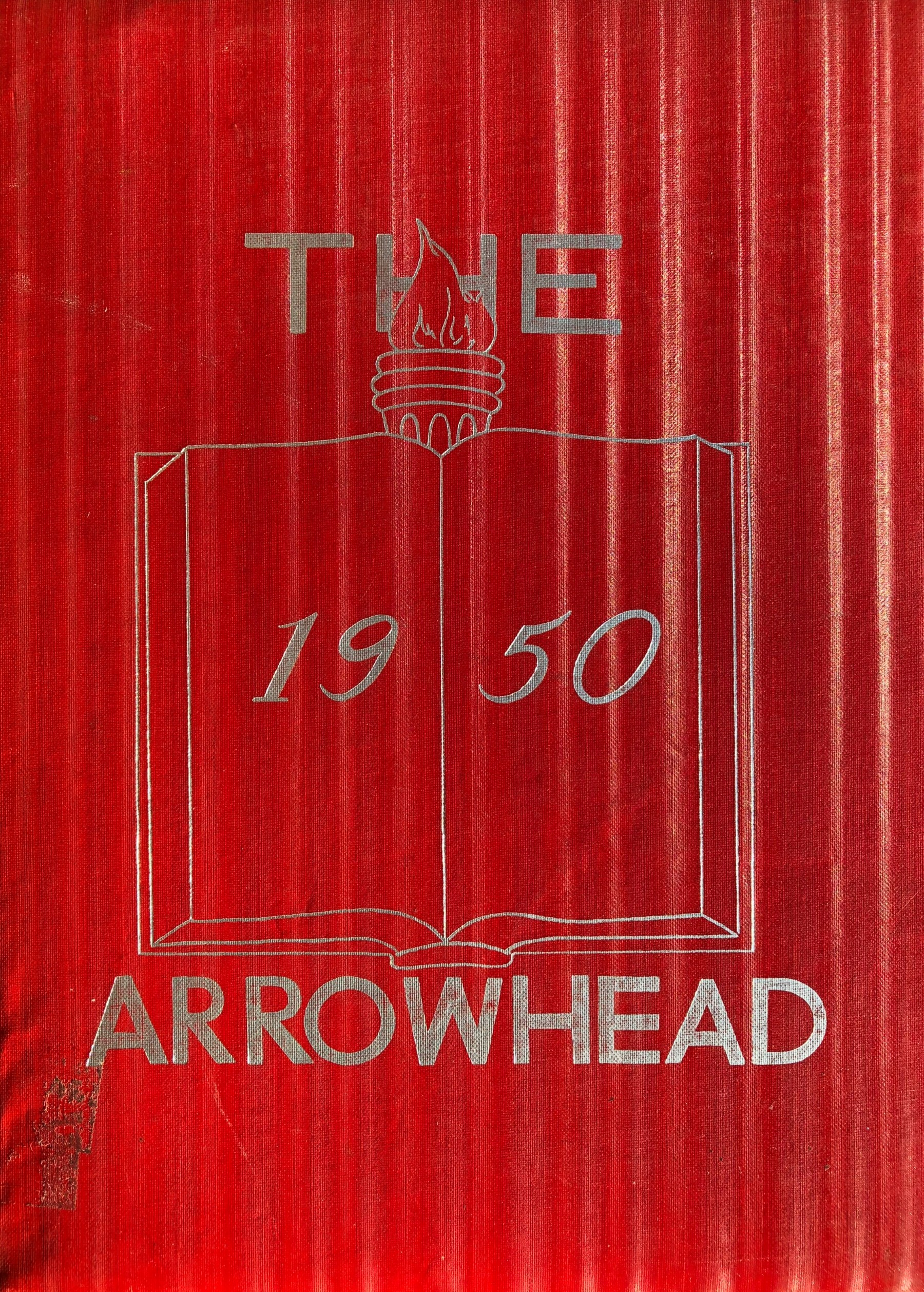 Burlington High School yearbook cover 1950