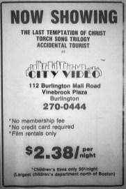 City Video, Burlington MA