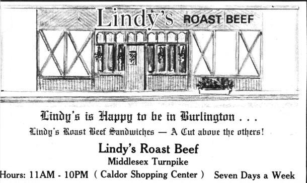 Lindy's Roast Beef, Burlington MA