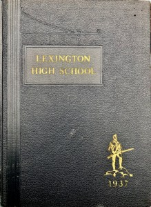 Lexington High School 1937 yearbook