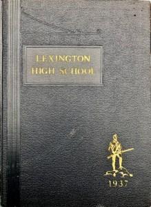 Lexington High School 1937 yearbook