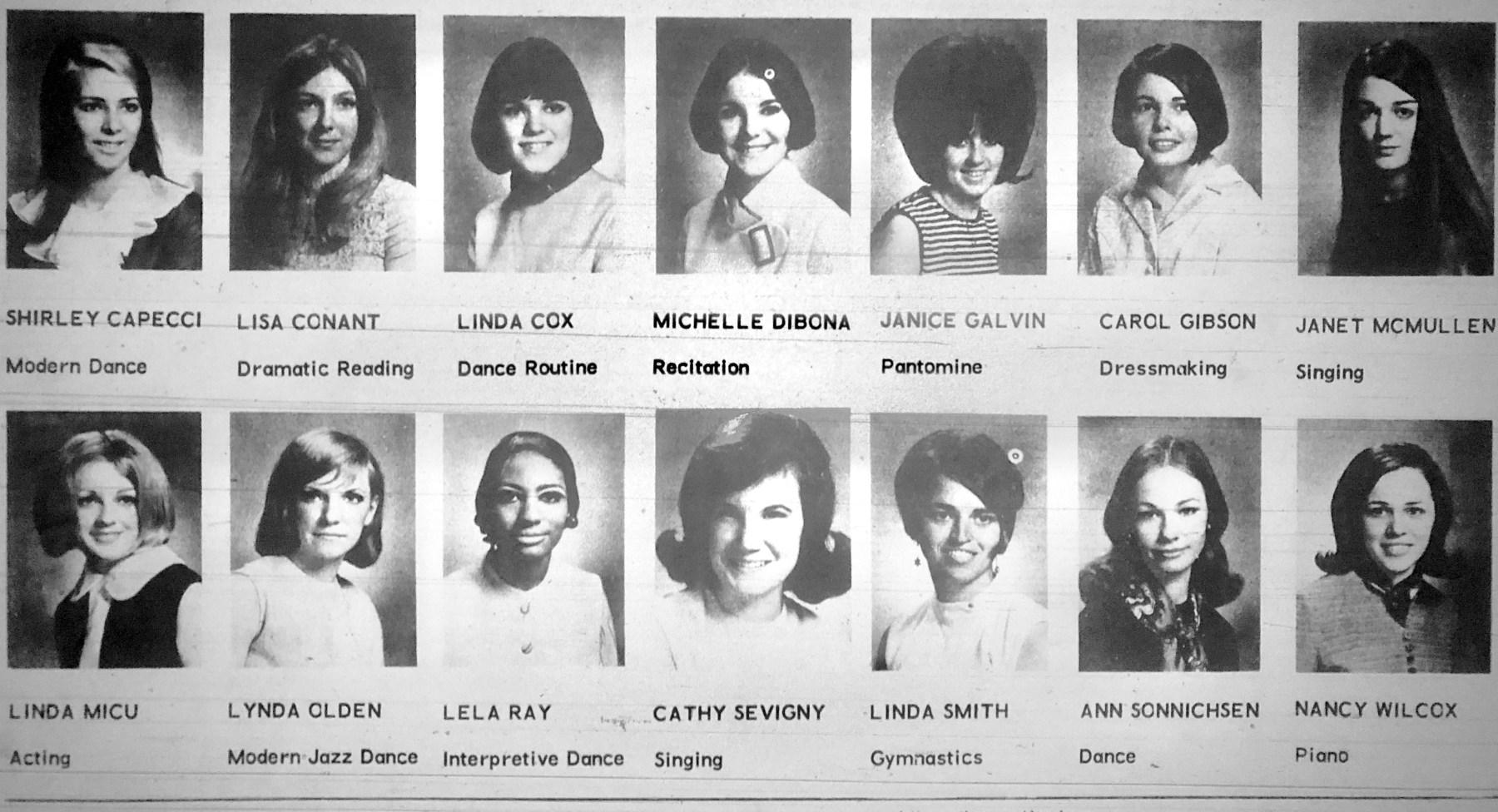 Miss Burlington 1968 contestants