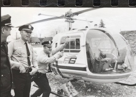Police and chopper