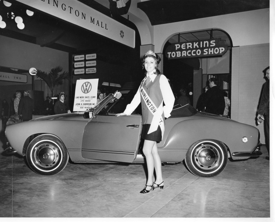 Miss Burlington with VW Karmann Ghia