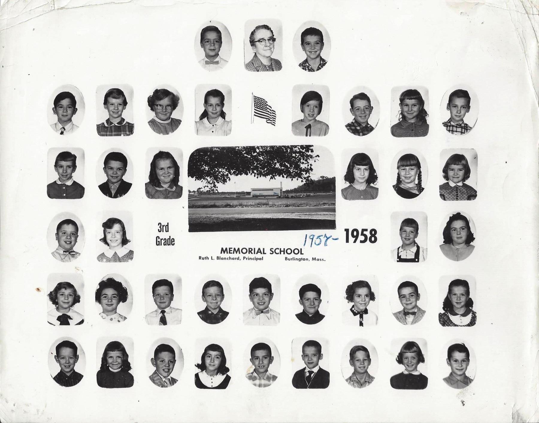 Memorial School Third Grade 1958, Burlington MA