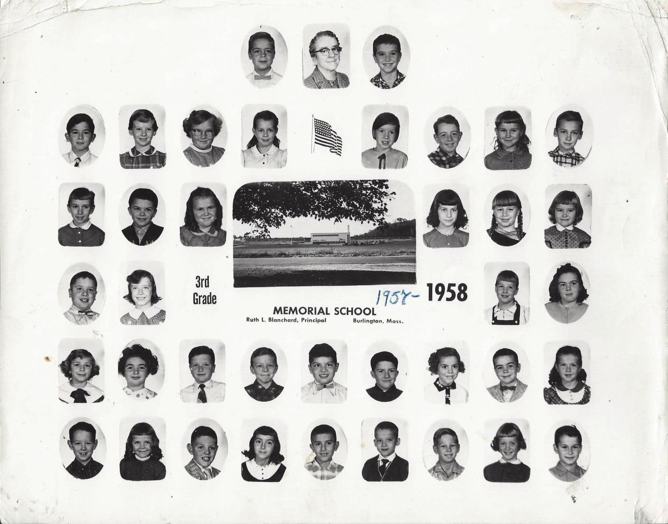 Memorial School Third Grade 1958, Burlington MA