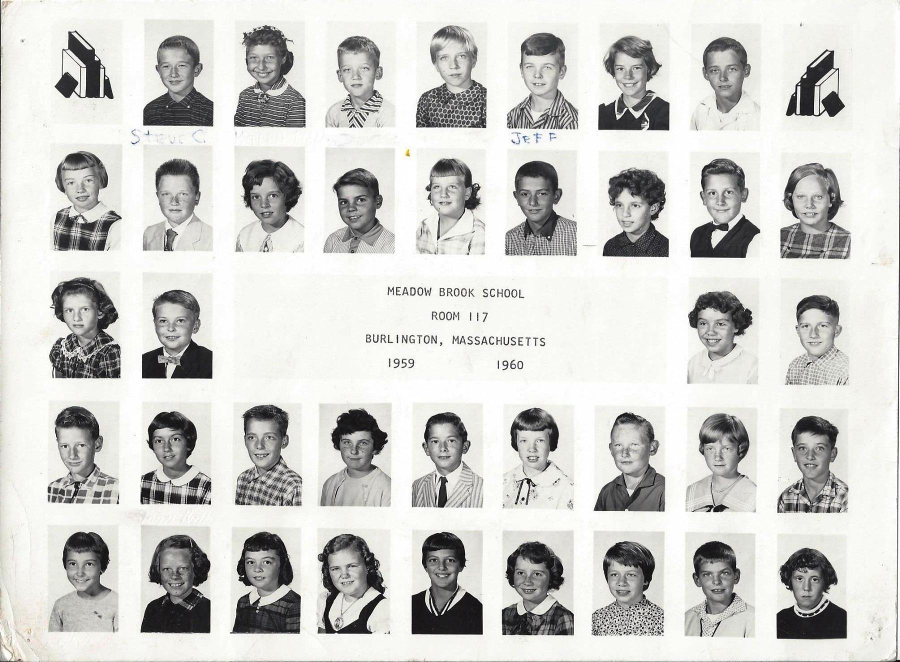 Meadow Brook School Room 117, 1959-1960, Burlington MA