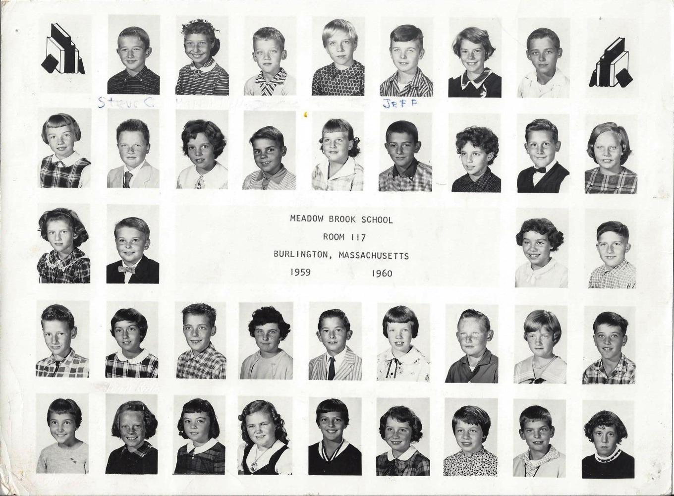Meadow Brook School Room 117, 1959-1960, Burlington MA